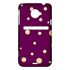 Purple and yellow bubbles HTC Evo 4G LTE Hardshell Case