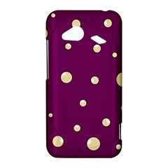 Purple and yellow bubbles HTC Droid Incredible 4G LTE Hardshell Case