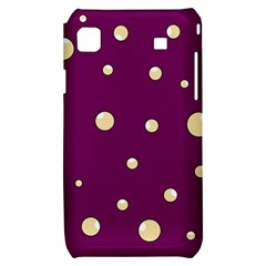 Purple and yellow bubbles Samsung Galaxy S i9000 Hardshell Case