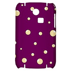 Purple and yellow bubbles Samsung S3350 Hardshell Case