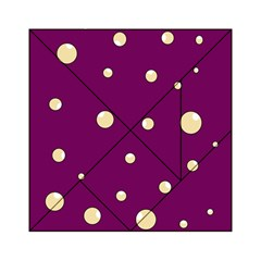 Purple and yellow bubbles Acrylic Tangram Puzzle (6  x 6 )