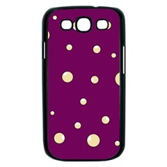 Purple and yellow bubbles Samsung Galaxy S III Case (Black)