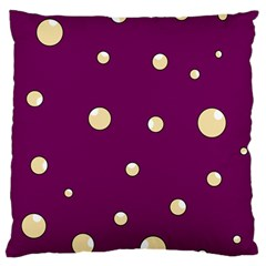 Purple and yellow bubbles Large Cushion Case (Two Sides)