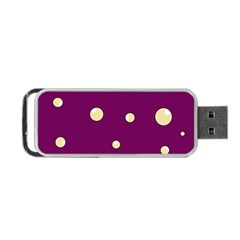 Purple and yellow bubbles Portable USB Flash (One Side)