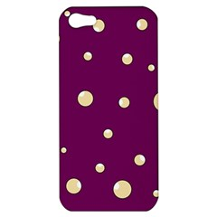 Purple and yellow bubbles Apple iPhone 5 Hardshell Case