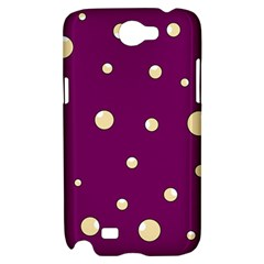 Purple and yellow bubbles Samsung Galaxy Note 2 Hardshell Case