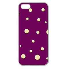 Purple and yellow bubbles Apple Seamless iPhone 5 Case (Clear)