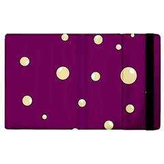 Purple and yellow bubbles Apple iPad 2 Flip Case