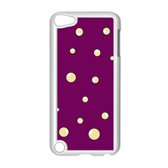 Purple and yellow bubbles Apple iPod Touch 5 Case (White)