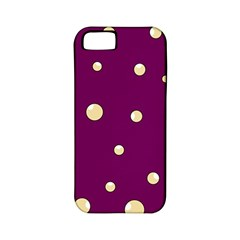 Purple and yellow bubbles Apple iPhone 5 Classic Hardshell Case (PC+Silicone)