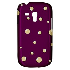 Purple and yellow bubbles Samsung Galaxy S3 MINI I8190 Hardshell Case