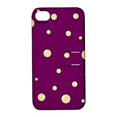 Purple and yellow bubbles Apple iPhone 4/4S Hardshell Case with Stand