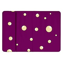 Purple and yellow bubbles Samsung Galaxy Tab 8.9  P7300 Flip Case