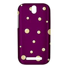 Purple and yellow bubbles HTC One SV Hardshell Case