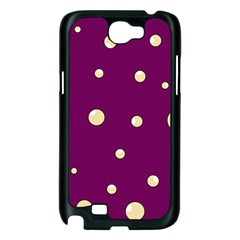 Purple and yellow bubbles Samsung Galaxy Note 2 Case (Black)