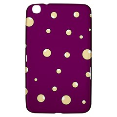 Purple and yellow bubbles Samsung Galaxy Tab 3 (8 ) T3100 Hardshell Case