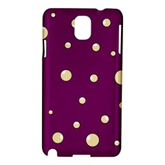 Purple and yellow bubbles Samsung Galaxy Note 3 N9005 Hardshell Case
