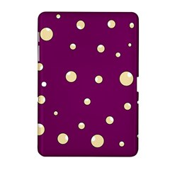 Purple and yellow bubbles Samsung Galaxy Tab 2 (10.1 ) P5100 Hardshell Case