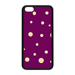 Purple and yellow bubbles Apple iPhone 5C Seamless Case (Black)