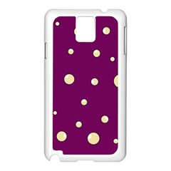 Purple and yellow bubbles Samsung Galaxy Note 3 N9005 Case (White)