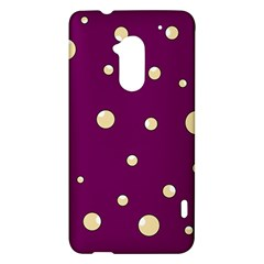 Purple and yellow bubbles HTC One Max (T6) Hardshell Case