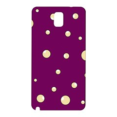 Purple and yellow bubbles Samsung Galaxy Note 3 N9005 Hardshell Back Case