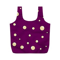 Purple and yellow bubbles Full Print Recycle Bags (M)