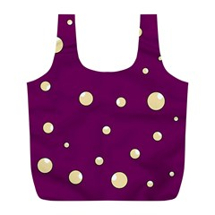 Purple and yellow bubbles Full Print Recycle Bags (L)