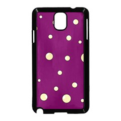 Purple and yellow bubbles Samsung Galaxy Note 3 Neo Hardshell Case (Black)