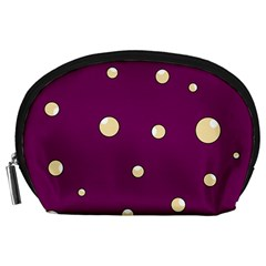 Purple and yellow bubbles Accessory Pouches (Large)