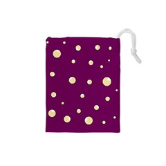 Purple and yellow bubbles Drawstring Pouches (Small)