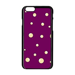 Purple and yellow bubbles Apple iPhone 6/6S Black Enamel Case