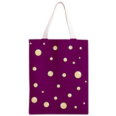 Purple and yellow bubbles Classic Light Tote Bag