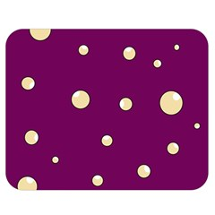 Purple and yellow bubbles Double Sided Flano Blanket (Medium)