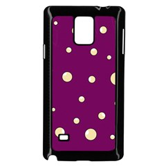 Purple and yellow bubbles Samsung Galaxy Note 4 Case (Black)