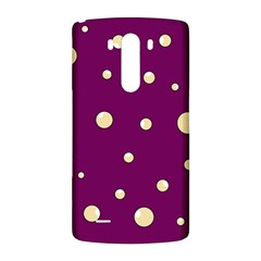 Purple and yellow bubbles LG G3 Back Case