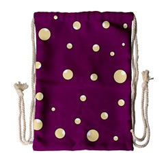 Purple and yellow bubbles Drawstring Bag (Large)