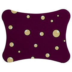 Purple and yellow bubbles Jigsaw Puzzle Photo Stand (Bow)