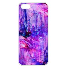 Purple Alcohol Ink Abstract Apple iPhone 5 Seamless Case (White)