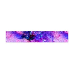 Purple Alcohol Ink Abstract Flano Scarf (Mini)