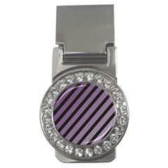 Purple elegant lines Money Clips (CZ)
