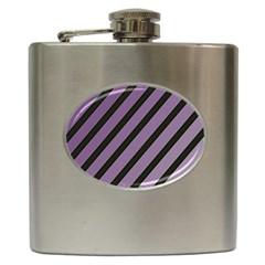 Purple elegant lines Hip Flask (6 oz)