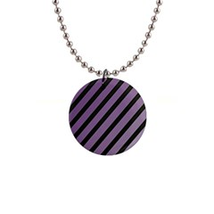 Purple elegant lines Button Necklaces