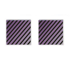 Purple elegant lines Cufflinks (Square)