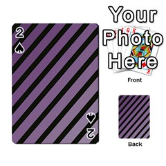 Purple elegant lines Playing Cards 54 Designs