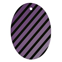 Purple elegant lines Oval Ornament (Two Sides)