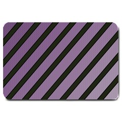 Purple elegant lines Large Doormat