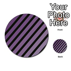 Purple elegant lines Multi-purpose Cards (Round)