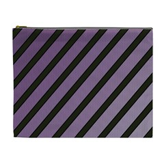 Purple elegant lines Cosmetic Bag (XL)