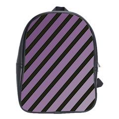Purple elegant lines School Bags(Large)
